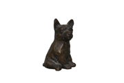 dog bronze standard brown