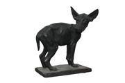 dog bronze black