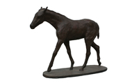 horse bronze dark brown