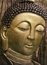 buddha bronze relief sculpture