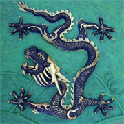 chinese dragon sculpture relief
