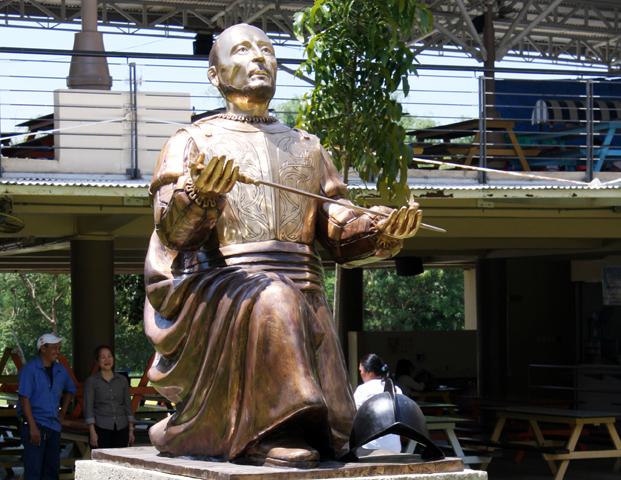 Ignatius bronze sculpture- Ateneo de Cebu